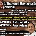 I. Tiszacsegei Harcsapaprikás Fesztivál