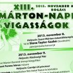 XIII. Márton-napi Vigasságok Bogács 2013 november 08-10.
