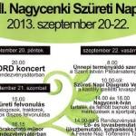 XVIII. Nagycenki Szüreti napok 2013 szeptember 20-22